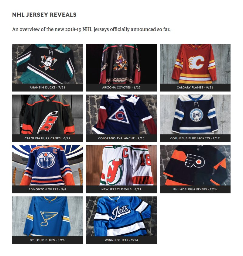 db3fda4dd We ve seen 11 new jerseys in the  NHL this summer — with more to come! Have  a favorite so far  See them all in the  JerseyWatch  ...
