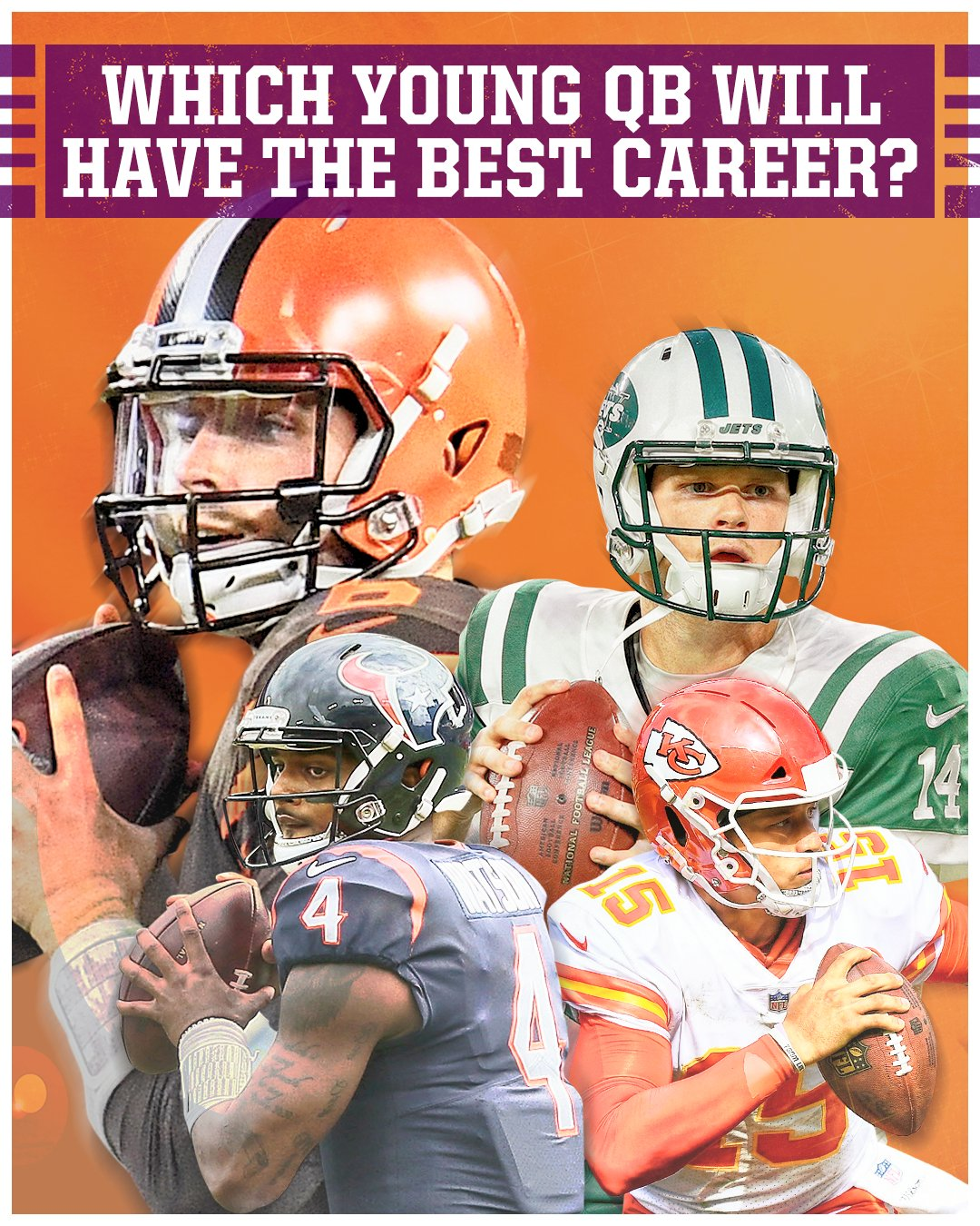 Mayfield. Darnold. Watson. Mahomes.  Which QB will end up having the best career? https://t.co/qlfnTSP0Y2