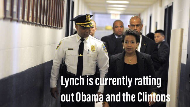 Loretta Lynch Is talking about the tarmac meeting, Comey/HRC eMail case, Obama's instructions about it, and Brennan/McCain efforts to frame @realDonaldTrump. Meanwhile Rosenstein has called Lynch 4 times in the last 11 days. #QAnon<br>http://pic.twitter.com/nEF5AX9a5Z