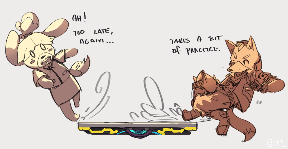 Teaching the New Dog some Old Tricks (she&#39;ll get the hang of it eventually!)  my doodle thingy for @ssbu_countdown &#39;s Old &amp; New prompt! #SSBU_Countdown<br>http://pic.twitter.com/F8ZKuYbw2x