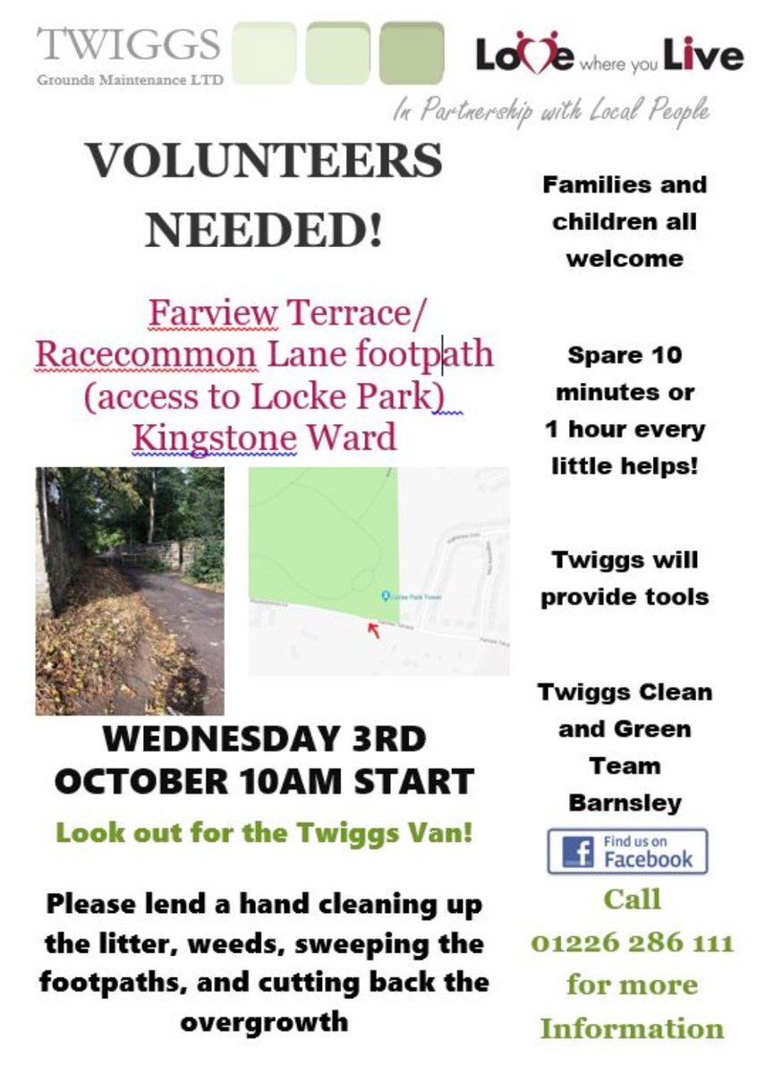 Twiggs On Twitter Some Fantastic Volunteering Activities With Our Clean Green And Tidy Teams Over The Next Few Weeks Step Up And Make A Difference Lwylbarnsley Centralteamarea Vabarnsley Dearneareateam Barnsleynthteam We