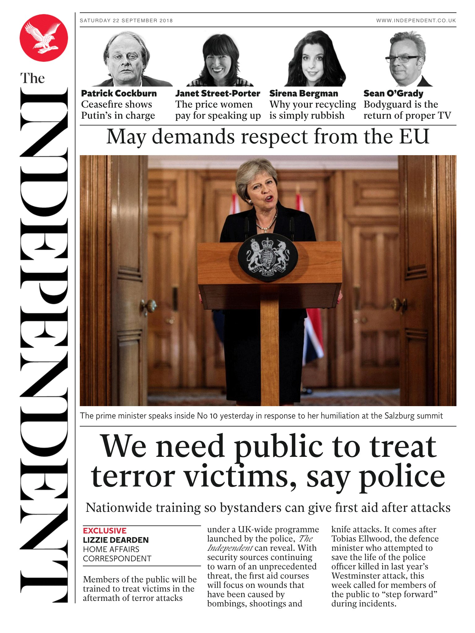 Tomorrow's @independent front page #tomorrowspaperstoday To subscribe to the Daily Edition https://t.co/XF8VnDpHYF https://t.co/8PTGzYxvM0
