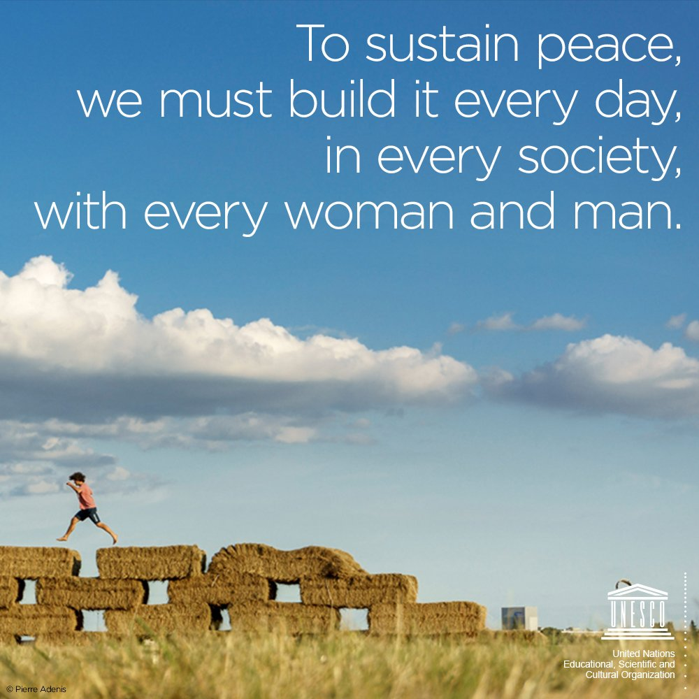 Peace isn't just the result of a treaty, but rather part of a global culture, the way we behave in society.   ☮️https://t.co/ZL5tMNpBKh  🕊️ #PeaceDay