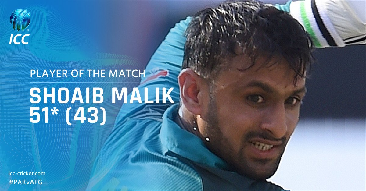He broke Afghan hearts by holding his nerve and claiming a half-century to give Pakistan victory in the final over - @realshoaibmalik is named Player of the Match after an epic #PAKvAFG battle! 👏  #AsiaCup2018