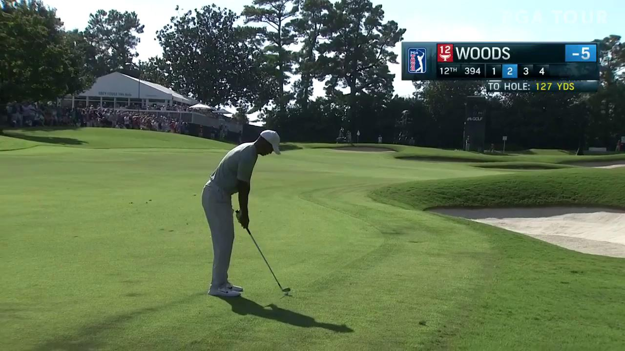 The solo leader at @PlayoffFinale?  �� @TigerWoods ��  #QuickHits https://t.co/iHjjpgOaLH