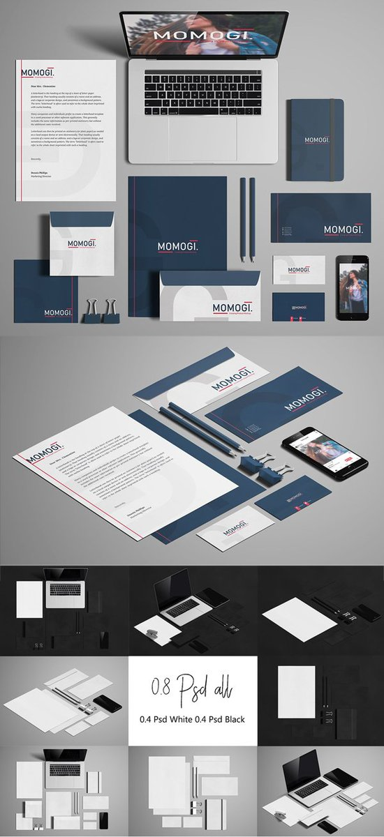 graphic design on twitter branding mockup psd templates download