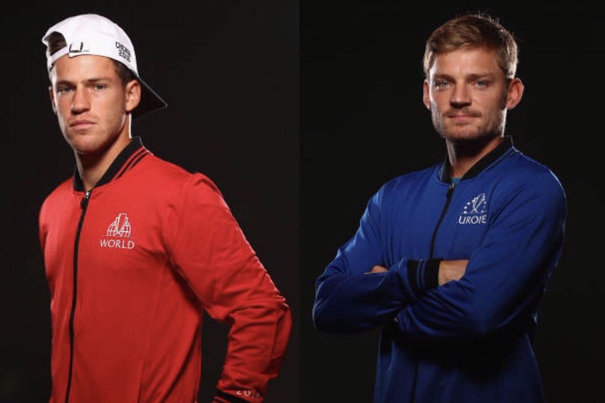 We have the first match of the night coming up, with #TeamEurope2018 holding a 2-0 lead.   @dieschwartzman vs. @David__Goffin! #LaverCup⁠ ⁠  Tune-in to @TennisChannel for all the action! https://t.co/9p1oQ0YdgZ