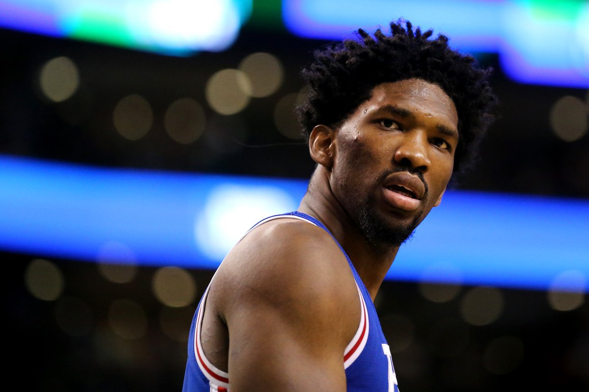 """Joel Embiid says Deandre Ayton is """"about to get his ass kicked,"""" per The Jump  https://t.co/eAKZsAC6BO"""