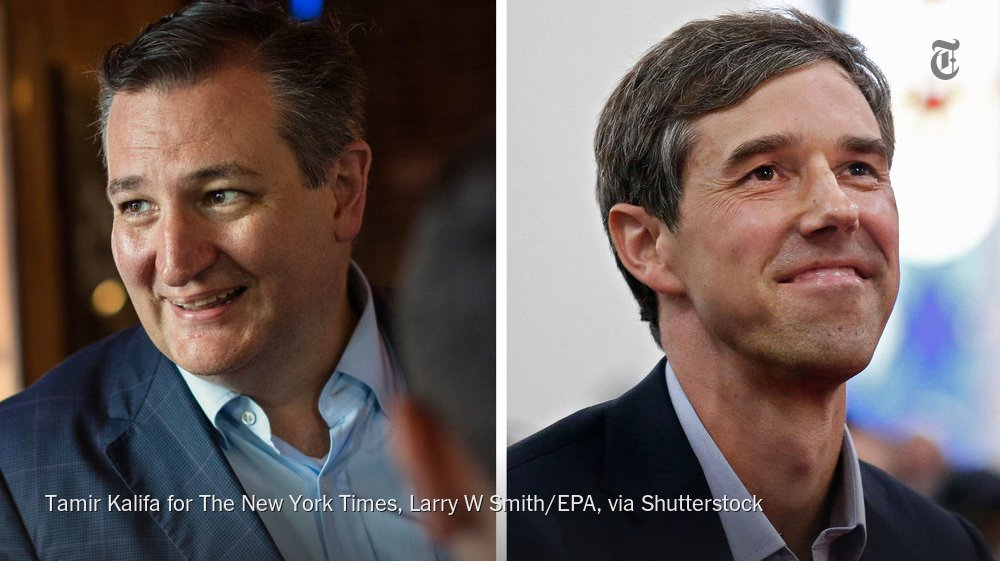 Senator Ted Cruz and Representative Beto O'Rourke of Texas will face off Friday night in the first of three debates https://t.co/tCJ8cSu5EP