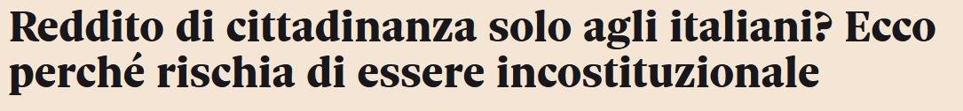 """#RassegnaStancaSecondo il Sole24Ore il """"Reddito di cittadinanza"""" sarebbe incostituzionale perchè riservato solo agli italiani.Reddito di """"CITTADINANZA"""".Cosa minchia non vi è chiaro? #22settembre #governo #italia #italy #gialloverdi #lega #m5s #salvini #dimaio  - Ukustom"""