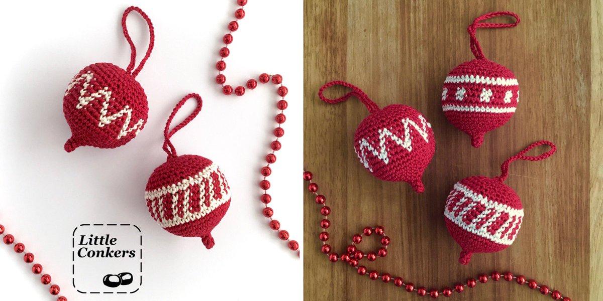 Little Conkers On Twitter Ornament Crochet Pattern Three