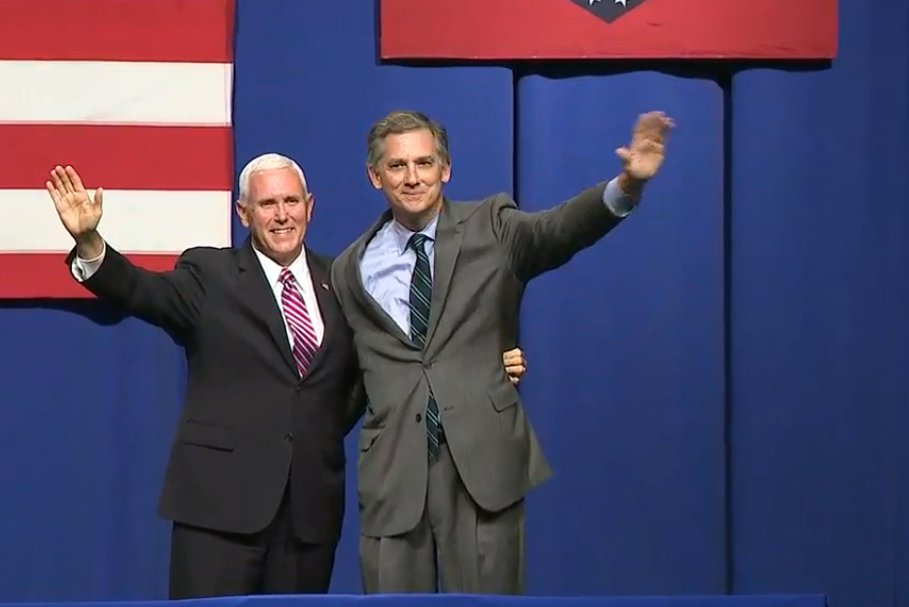 LIVE: Vice President Mike Pence speaks at a campaign rally for Arkansas Congressman French Hill in downtown Little Rock https://t.co/g0gEV9QNpz | #arnews #arpx