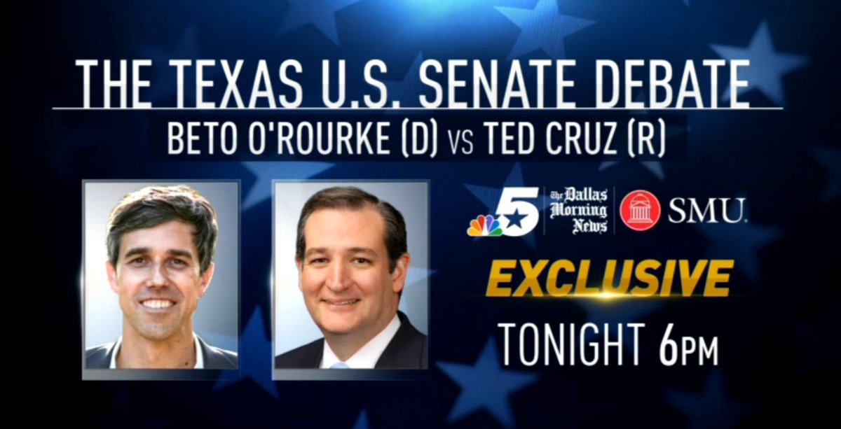 U.S. Sen. Ted Cruz (R-TX) and U.S. Rep. Beto O'Rourke (D-El Paso) debate LIVE NOW!  LISTEN LIVE ON KRLD'S STREAM HERE: https://t.co/AMgvT1GrnE  WATCH LIVE FROM NBC 5 HERE: https://t.co/KsR6LouGYa