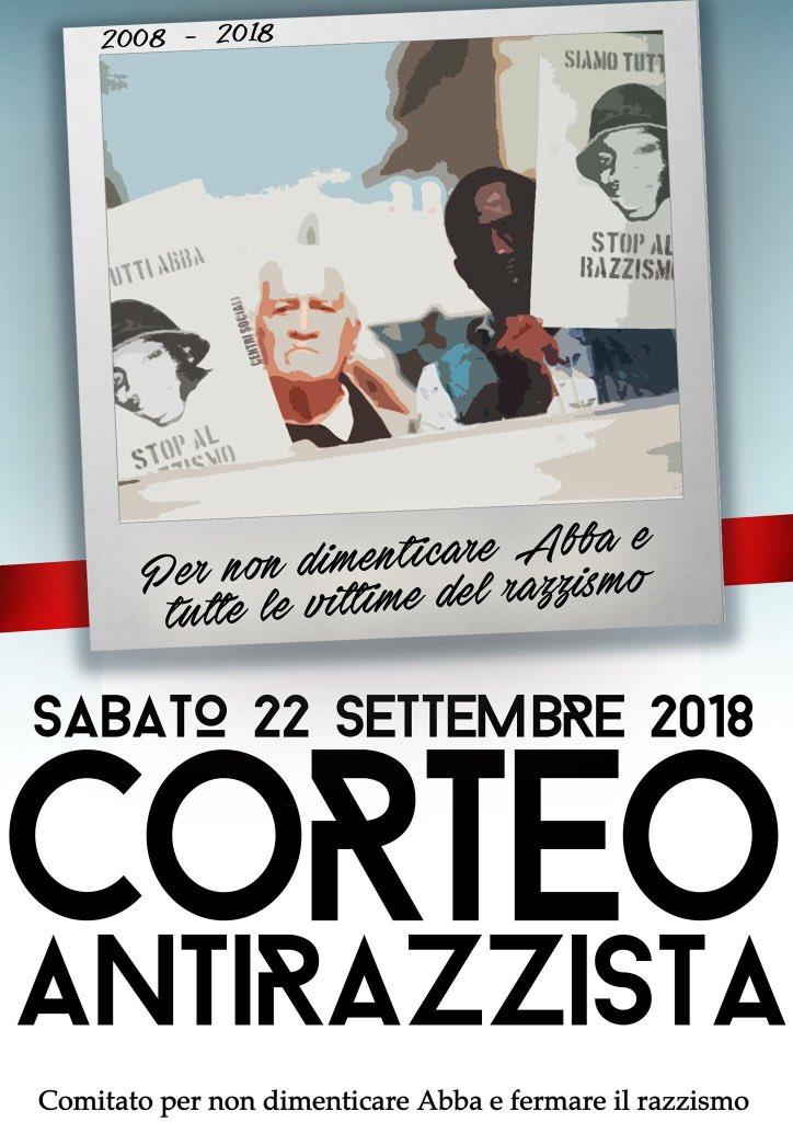 Domani pomeriggio saremo qua per non dimenticare Abba e tutte le vittime di razzismo  https:// www.facebook.com/1543102832607293/posts/2132242313693339/ #milano #abbavive  - Ukustom