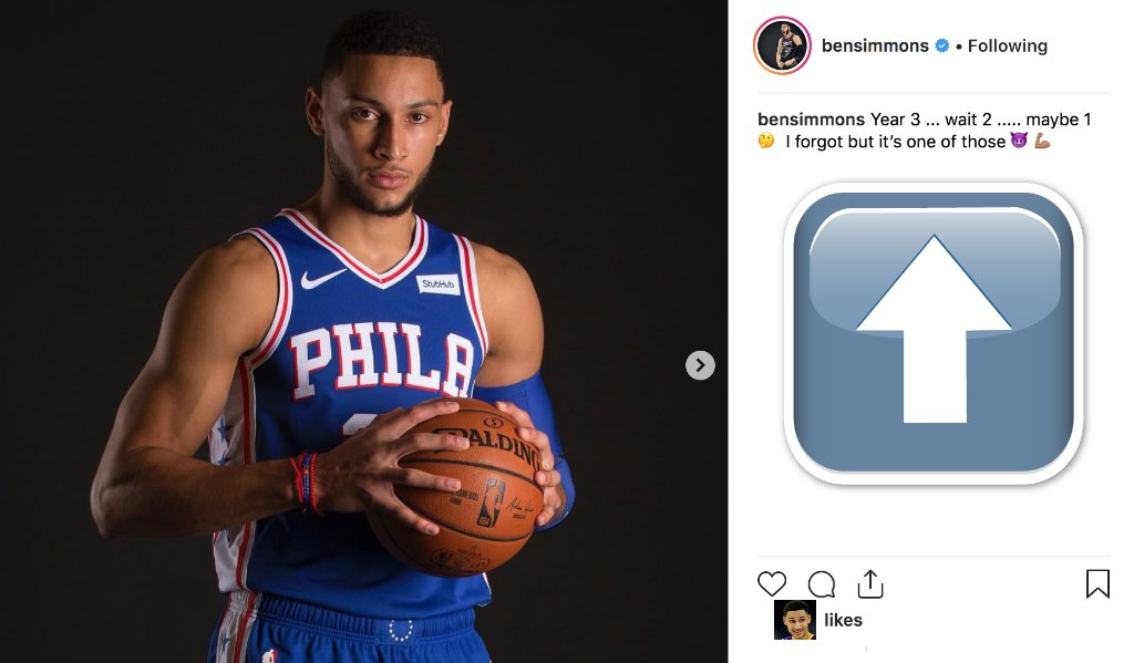 ROY Ben Simmons out here trolling 🤣