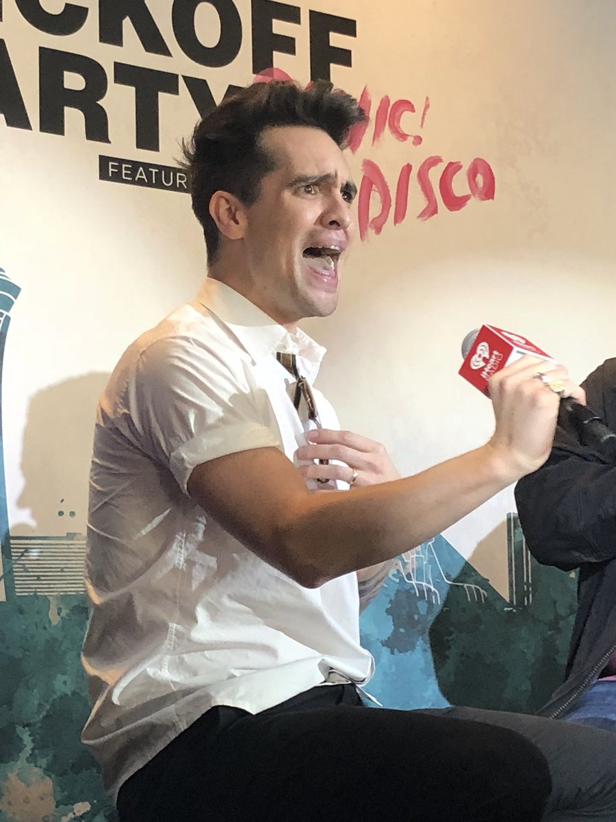 My face when @brendonurie comes onstage for the @CapitalOne #iHeartFestival kickoff party 😲