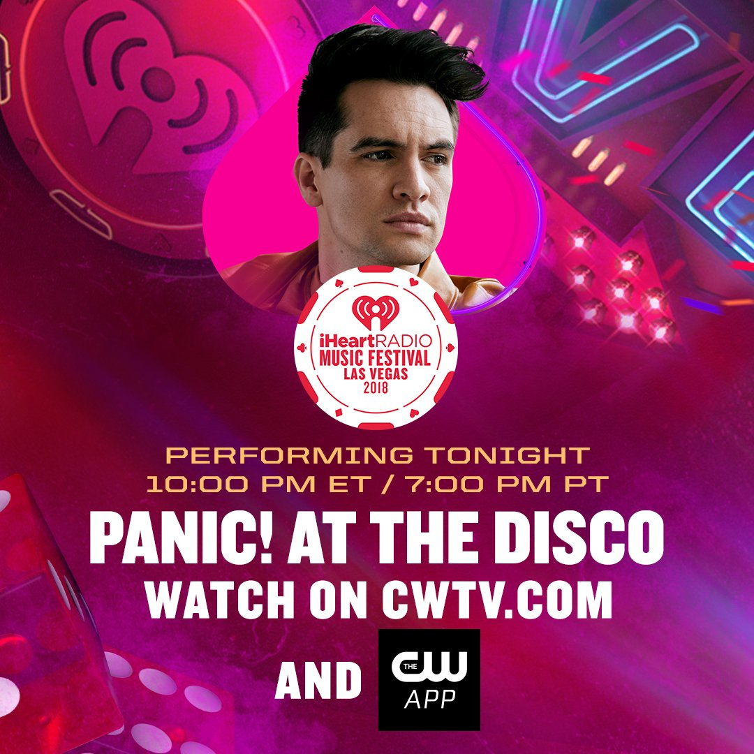 .@PanicAtTheDisco's rocking out TONIGHT at the #iHeartFestival 🎸.  Watch live at 7PM PT: https://t.co/L4Skxihpey. #PanicAtTheDisco #PrayForTheWicked #PATD