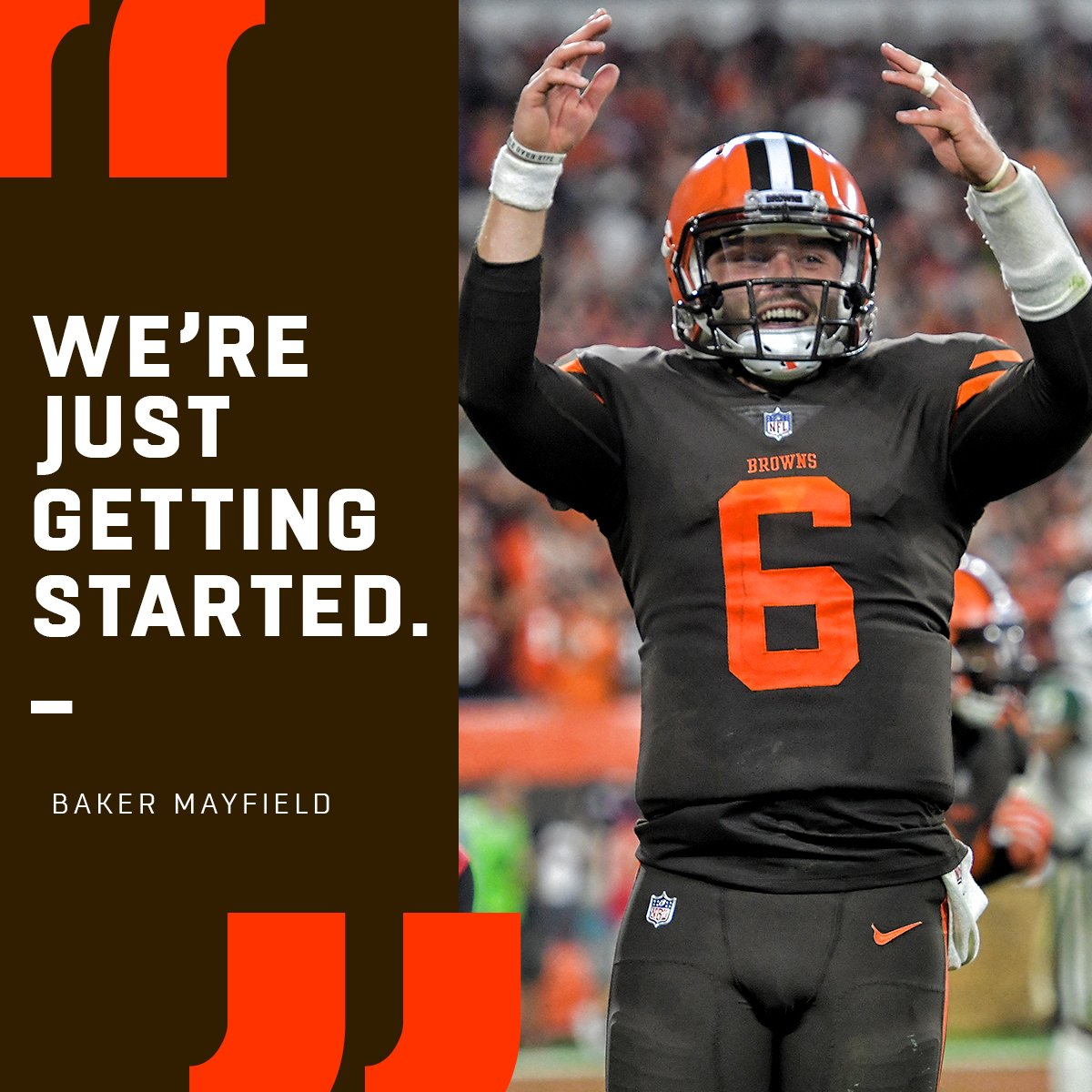 That was only the beginning for @bakermayfield + the @Browns.  #Browns https://t.co/Rh9TzoV1VF