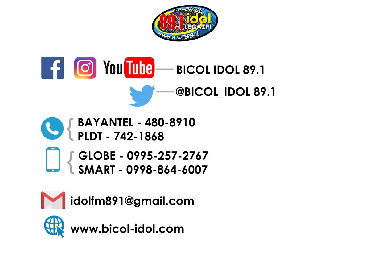 BICOL IDOL 89 1 (@BICOL_IDOL891) | Twitter