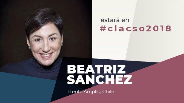 Beatriz Sánchez @labeasanchez del Frente Amplio de Chile, estará en #CLACSO2018 Asiste al evento académico y político más importante del año en Buenos Aires. 8º Conferencia Latinoamericana y Caribeña de Ciencias Sociales Inscríbete aquí: ow.ly/XGgq30lj53P