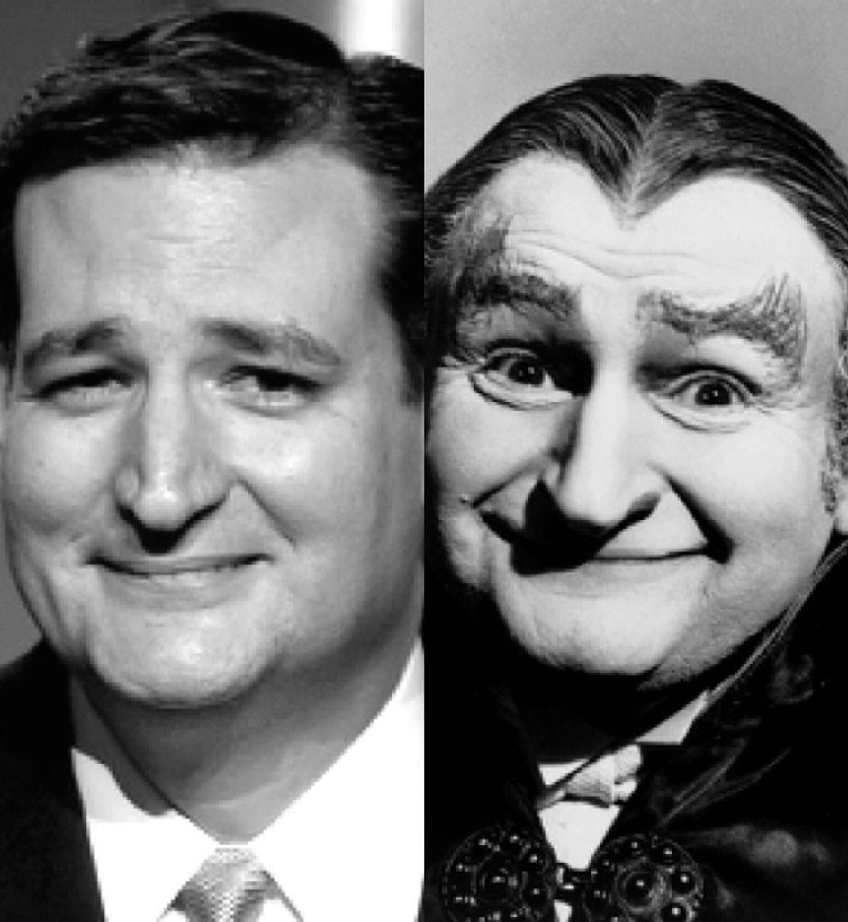 """Don Millard on Twitter: """"Ted Cruz looks like an evil Grandpa Munster."""""""