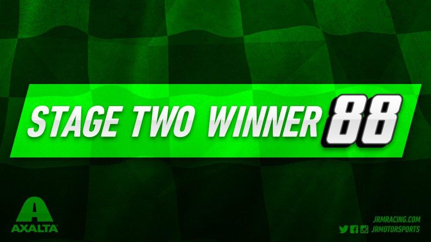 .@DaleJr wins Stage Two @RIRInsider!   P5:   P7:@J_Allgaier   P8:@Elliott_Sadler   P14@TylerReddick: @MichaelAnnett
