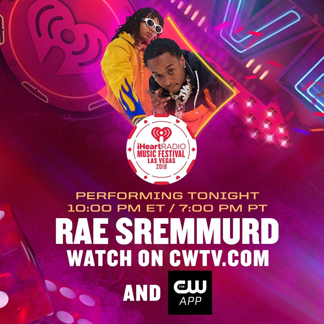 .@RaeSremmurd x #iHeartFestival 🎤.  TONIGHT. Watch live at 7PM PT: https://t.co/L4Skxihpey. #RaeSremmurd @iHipsterLe@Jxmmie