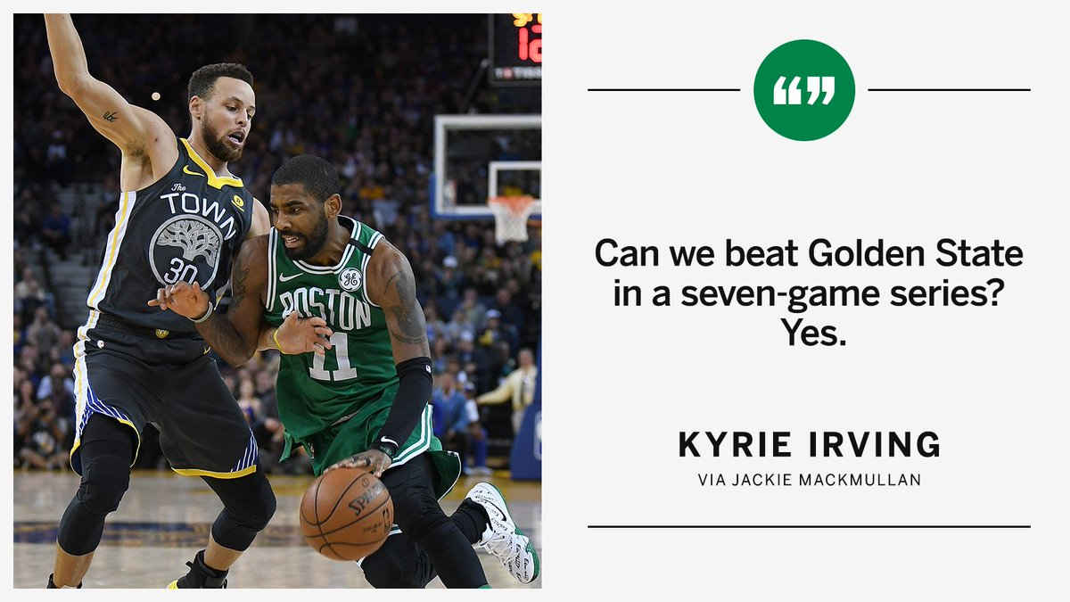 Kyrie is confident 👀