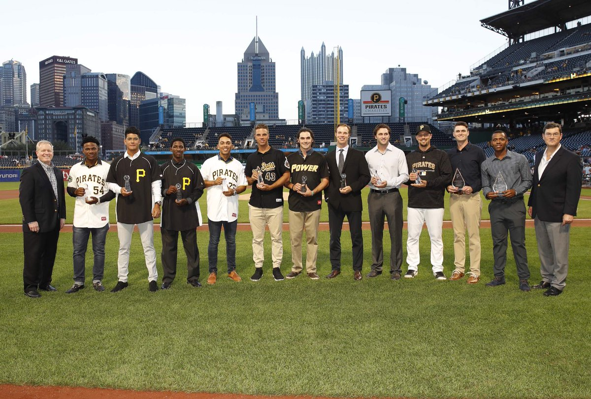 Before the game we recognized the nine winners of the 11th annual Pirates Community Commitment Program (PCCP) award.  Each year, we acknowledge players from each minor league affiliate as the program encourages players to emulate Roberto Clemente's legacy of community service.