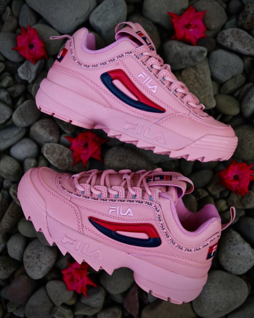 fila disruptor 2 rosa on feet get fead7