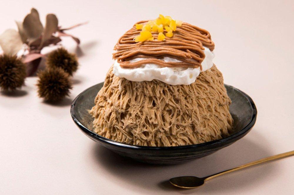 アイスモンスターの秋限定メニュー「マロンラテかき氷」コーヒー香るかき氷にマロンペーストをたっぷり - https://t.co/zF4xpWEfNy