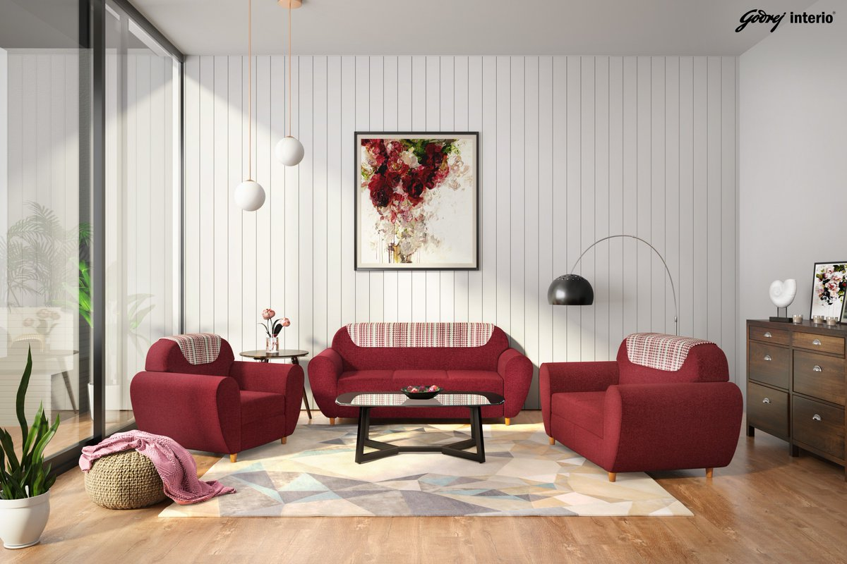 """Godrej Interio India On Twitter: """"Create A Comfortable Yet Chic Living Room With Our Petal Sofa. Its Curvaceous Design Guarantees Cosiness, No Matter How You Sit. Like It? Find Out More Https://t.co/DXFJfki9mK…"""