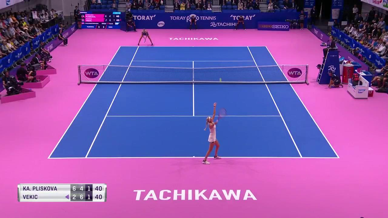 What! A! Point!  @KaPliskova  @torayppo #東レppoテニス https://t.co/oejXpfP1TW