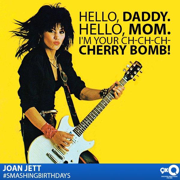 The Queen Of Rock, Joan Jett celebrates her today! Happy Birthday!