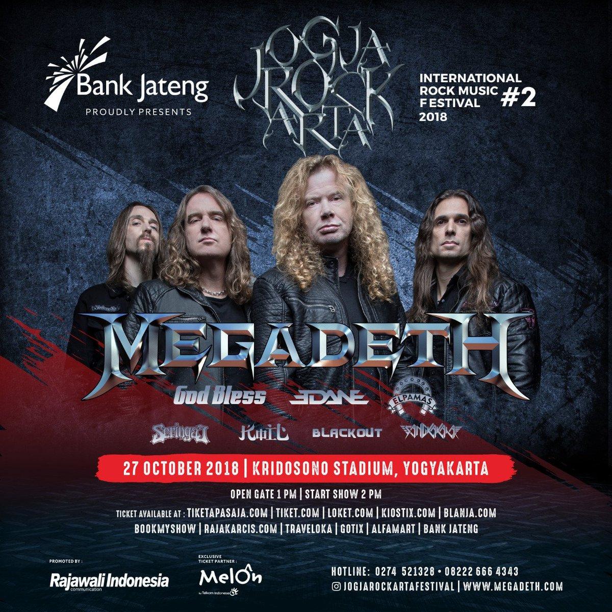 Konser Megadeth 27 Oktober 2018 (via twitter @jogjaROCKarta