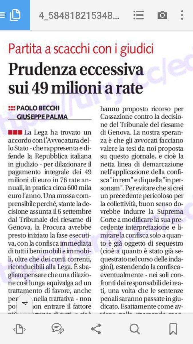 Sul caso dei #49milioni la #Lega di #Salvini è stata fin troppo corretta e prudente. La Cassazione può ancora mutare orientamento.E sul caso #Diciotti sarà un\