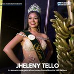 Image for the Tweet beginning: ¡Felicitaciones! La ecuatoriana Jhelenny Tello