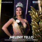 Image for the Tweet beginning: ¡Felicitaciones! La ecuatoriana Jhelenny Tello