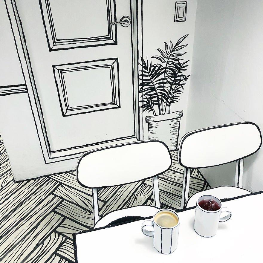 ソウルにある、漫画の中に入り込んだ気分になれるカフェ。