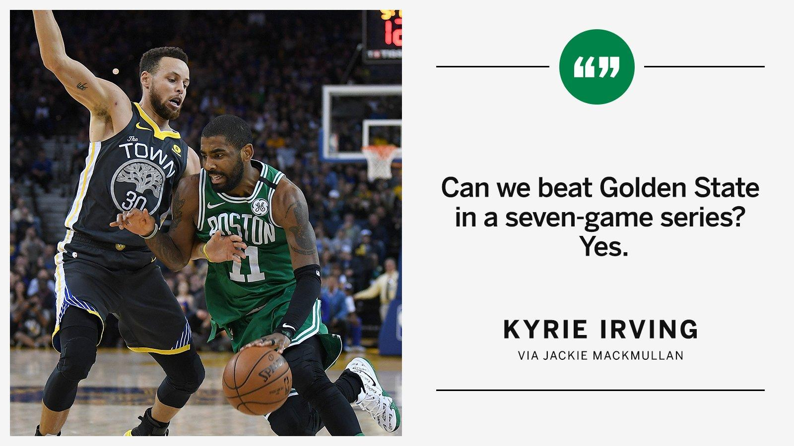 Kyrie Irving is ready to take on the juggernaut. https://t.co/RbrITz63xX