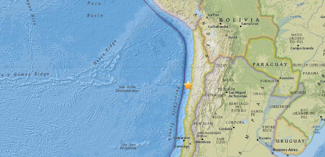 Sismo de magnitud 5,4 sacude el norte de Chile https://t.co/tTPwZ3m0QV