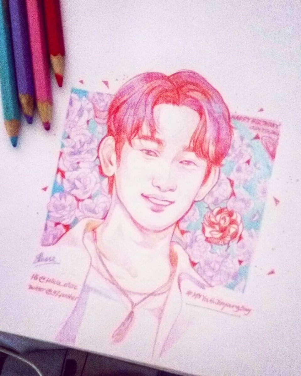 Photo reference credit to @Jinius940922 #GOT7  #갓세븐  #PresentYou  #Lullaby  #MyYouthJinyoungDay #MyYouth #parkjinyoung #Jinyoung  #GOT7fanart #kpop #fanart #kpopfanart #coloredpencil #sketch #illustration <br>http://pic.twitter.com/53amDKicdw