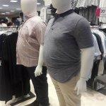 ついに中年体型のマネキンが登場してる多様性の時代ですからね!