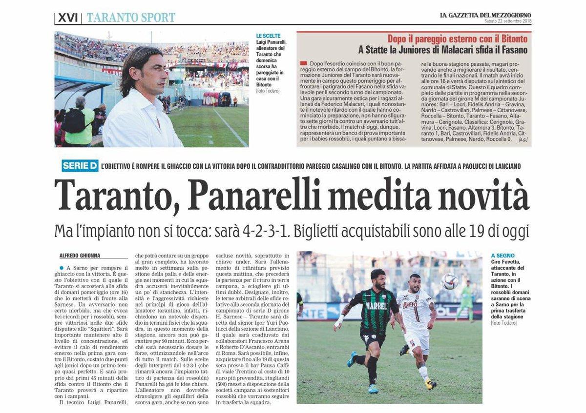Buon weekend dall'edicola rossoblu #Taranto #press #today  - Ukustom