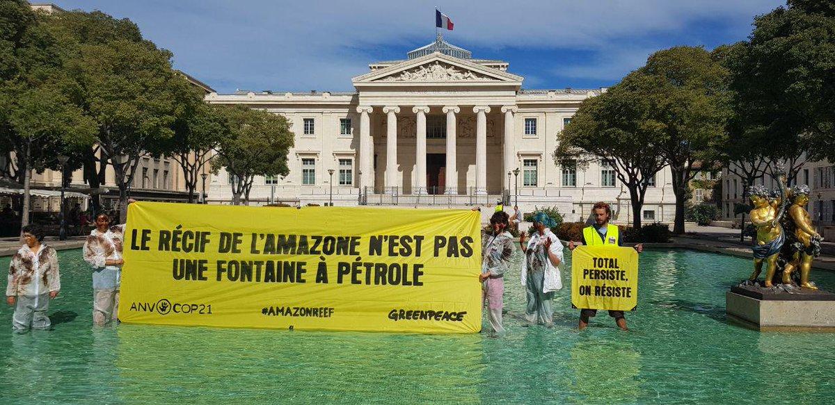 On vous avait bien dit que ce n'était que le début, @Total ! 2 millions de personnes vous demandent de stopper votre projet menaçant le Récif de l'Amazone. Et ça continue à Aix, Marseille, Montpellier, Lyon... #AmazonReef https://t.co/j1I0gwkRDg