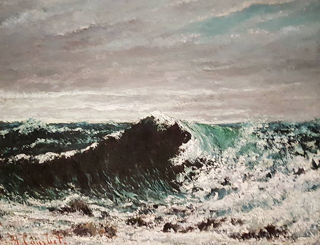 #GustaveCourbet #TheWave #painting #realism #courbetelanatura @palazzodiamanti #Ferrara https://t.co/rRn5idWlHK