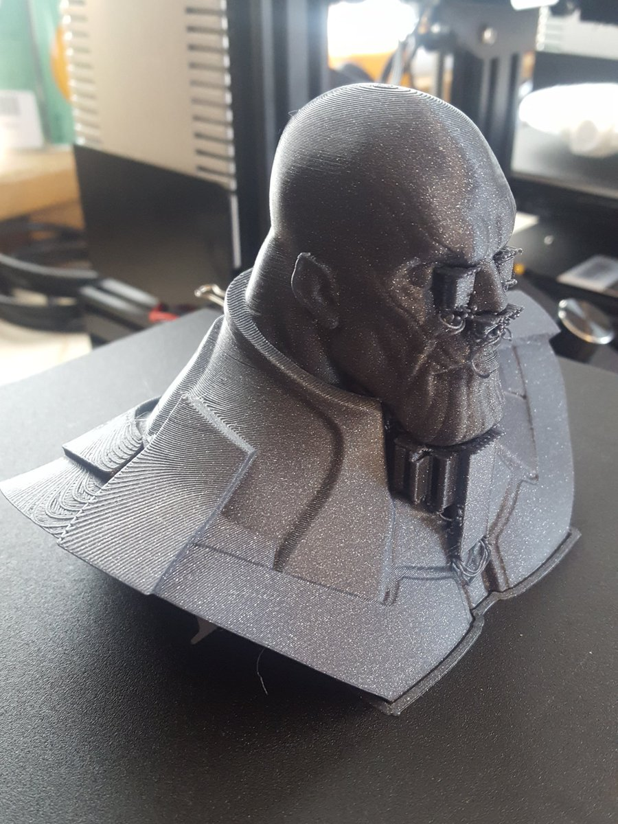 Well for a first print in @Fillamentum vertigo grey on my new stock @Creality3dp...