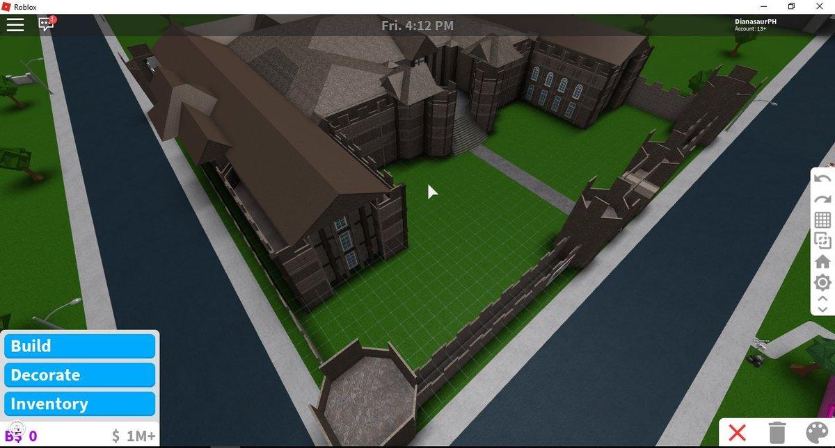 Dianasaurph On Twitter On Going Build For My Bloxburg - roblox bloxburg castle