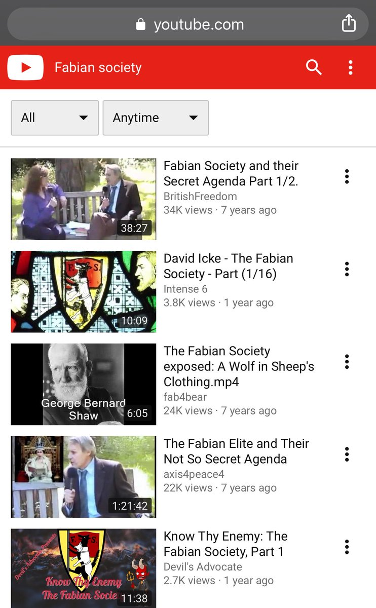 Intrigued by Ben Carson's remarks, I opened up an incognito window and fired up YouTube to seek out some information about the Fabian Society.