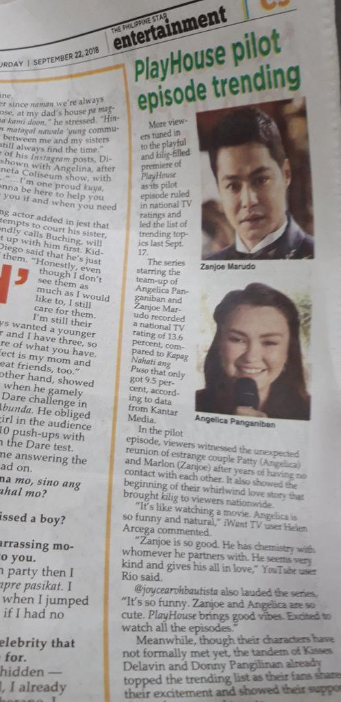 Found Playhouse in Philippine Star @delavinkisses good job guys! To those who makes it trending almost everyday, Kudos.  #PlayHouseAtNaga #PushAwardsTeamKisses<br>http://pic.twitter.com/2GnYi2zUwY